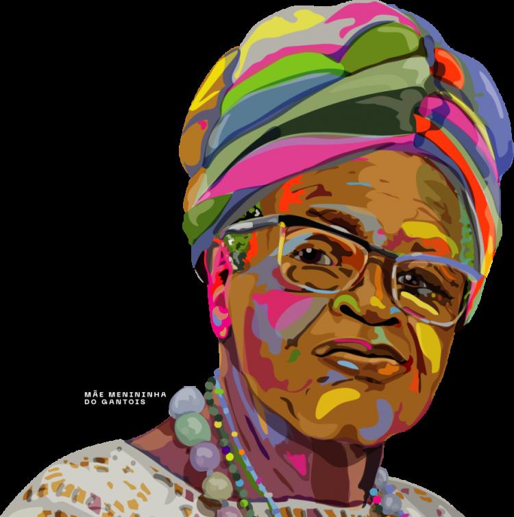 Ilustração de Mãe Menininha do Gantóis, uma das homenageadas pela campanha Ceará sem Racismo