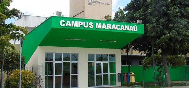 Fachada do IFCE campus de Maracanaú, que oferta licenciatura em Química