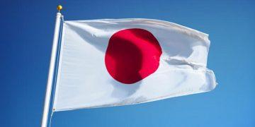bandeira do japão hasteada