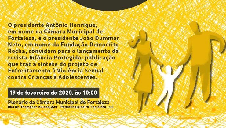 Folder do evento de lançamento da revista Infância Protegida