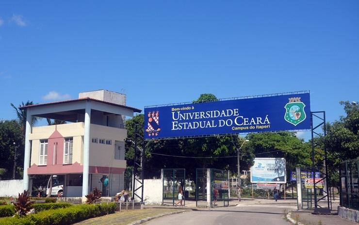 Uece abre vagas para cursos de idiomas: na foto, a fachada do campus Itaperi da Uece