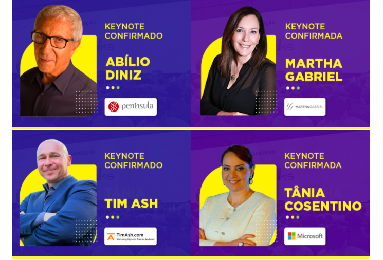 Banner dos palestrantes principais do Digitalks