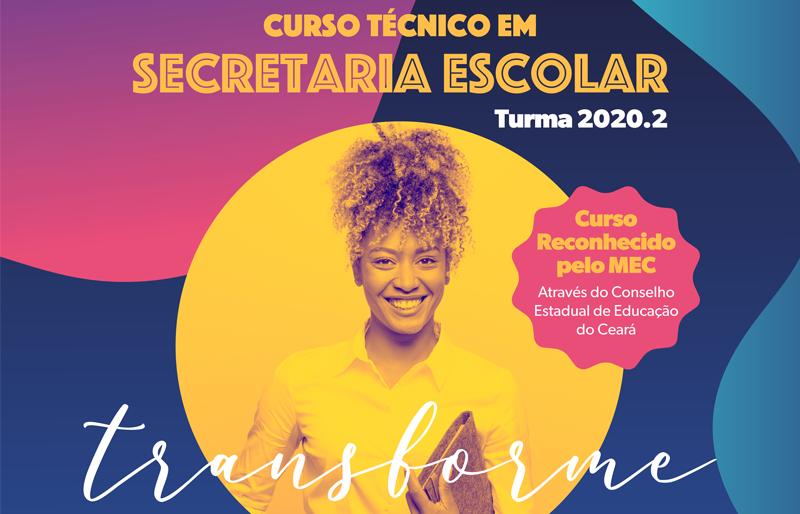 Banner do curso técnico em Secretaria Escolar