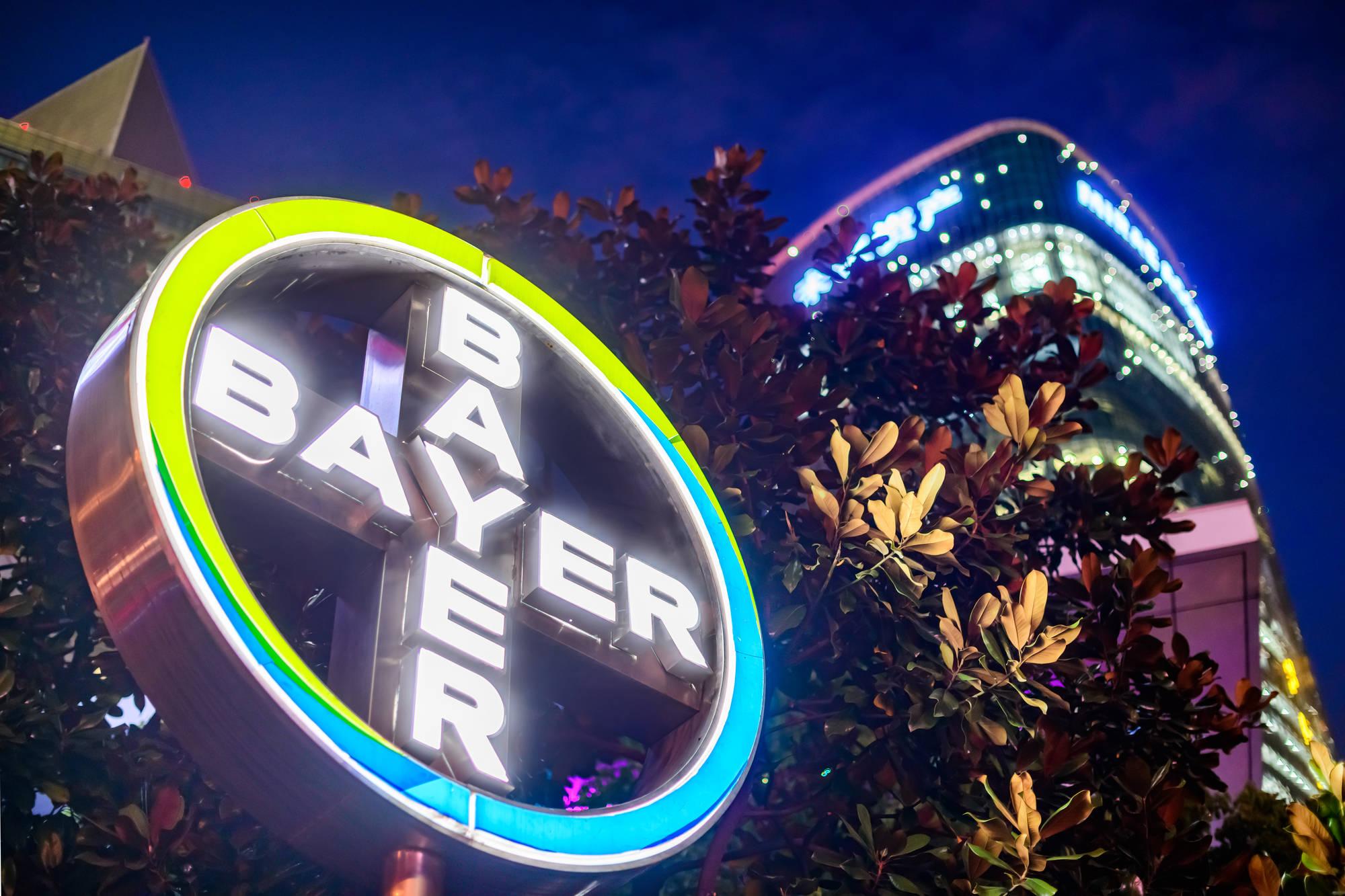 Logo da Bayer, que está com vagas de estágio abertas